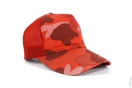 Ultimate Pharrell Camo Mesh Trucker by A Bathing Ape x NERD