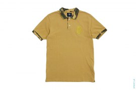 Washed 1st Camo Accent Gold Apehead Polo by A Bathing Ape