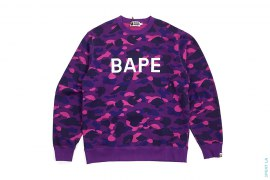 BAPE Logo Color Camo Crewneck Sweatshirt by A Bathing Ape