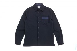 Chomper Pocket Wool Button-Up Shirt by OriginalFake