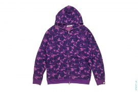 Fire Camo Thermal Full Zip Hoodie by A Bathing Ape
