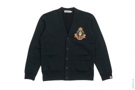 Busy Works Crown Emblem Sweat Cardigan by A Bathing Ape