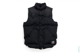Jacquard Camo Leather Shoulder Vest by A Bathing Ape