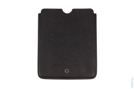 Silver Engraved Plaque  Pebble Leather IPad Case by Bvlgari