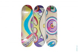 Dobtopus Skateboard Set Of 3 by Takashi Murakami x ComplexCon