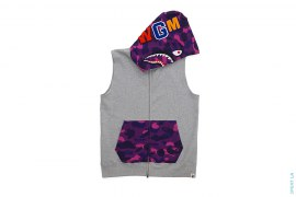 Color Camo Sleeveless Shark by A Bathing Ape