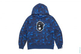 Color Camo Por Vida Apehead Pullover Hoodie by A Bathing Ape x Undefeated