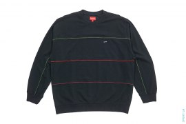 Multicolor Piping Pique Crewneck by Supreme
