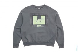 Framed Graphic Crew Neck Sweatshirt by Cav Empt
