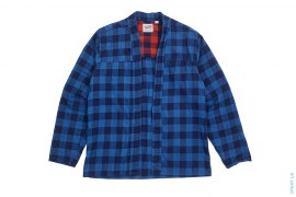 Plaid Kimono Long Sleeve Button-Less Shirt by Naked & Famous