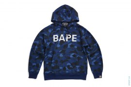 BAPE Logo Color Camo Pullover Hoodie by A Bathing Ape