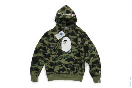 1st Camo Apehead Pullover Hoodie by A Bathing Ape x Champion