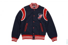 1992 Polo Stadium P-Wing Sweat Varsity Jacket by Ralph Lauren