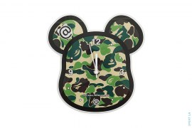 Abc Be@r Wall Clock by A Bathing Ape x Medicom