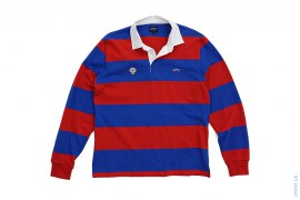 Border Rugby Long Sleeve Polo Shirt by Noah NYC x NERD