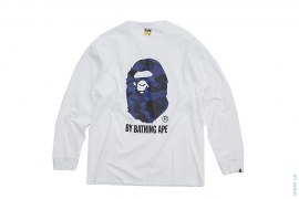 Color Camo Apehead By Bathing Long Sleeve Tee by A Bathing Ape