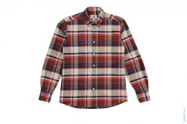 Apehead Check Plaid Short Sleeve Button-Up Shirt by A Bathing Ape