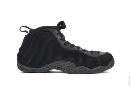 Foamposite One Triple Black Suede Mid-Top Basketball Shoes by Nike