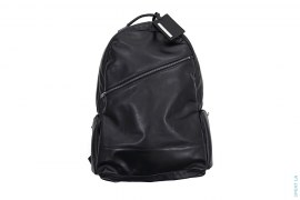 Luggage Label Leather Backpack by Porter