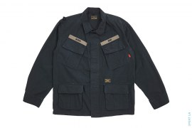 Jungle Long Sleeve Button-Up Ripstop Shirt by Wtaps