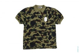 1st Camo Silver Apehead Polo Shirt by A Bathing Ape