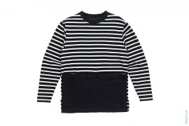 Striped Canvas Pocket Long Sleeve Tee by Black Scale