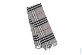 Nova Check Plaid Wool Scarf by Burberry