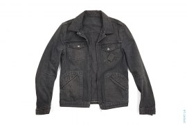 Zippo Outline Denim Zip Up Jacket by Number Nine