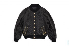 Quilted Lamb Leather Jacket by Balmain