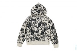 Multi Logo Pullover Hoodie by A Bathing Ape