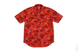 Small Apehead Color Camo Short Sleeve Button-Up by A Bathing Ape