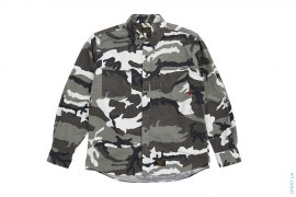 Snow Camo Flannel Button-Up Shirt by Wtaps