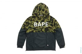 1st Camo BAPE Logo 2 Tone Side-Zip Pullover Hoodie by A Bathing Ape