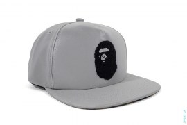 Velcro Apehead Reflective Snapback Hat by A Bathing Ape