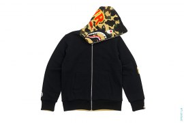 Ultimate 1st Camo Reversible PONR Shark  Full Zip-Up Hoodie by A Bathing Ape