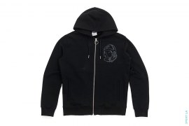 Jacquard Knit Logo Moonman Zip-Up Hoodie by BBC/Ice Cream