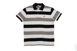 Apehead Chest Hit Border Polo Shirt by A Bathing Ape