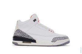 Jordan 3 Retro White Cement by Jordan Brand