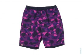 Ultimate Color Camo College Logo Reversible Beach Shorts by A Bathing Ape