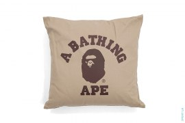 College Logo Square Sofa Cushion Pillow by A Bathing Ape