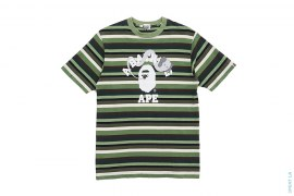 Bendy College Logo Striped Tee by A Bathing Ape x Kaws
