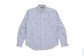 Rainbow Sta Monogram Button Up by A Bathing Ape