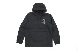 Mak Black Full Logo Anorak Pullover Hooded Jacket by Anti Social Social Club