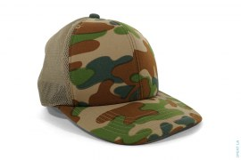 Puzzle Camo Mesh Trucker Snapback Hat by A Bathing Ape