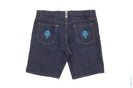 Cones & Bones Embroidered Pocket Raw Denim Shorts by BBC/Ice Cream