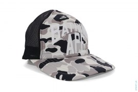 Bapexclusive ABC Camo New York Logo Mesh Trucker Snapback Cap by A Bathing Ape
