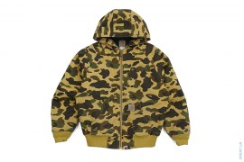 1st Camo Canvas Insulated Hooded Jacket by A Bathing Ape x Carhartt