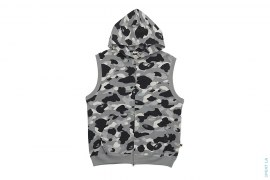 Bapexclusive 1st Camo Sleeveless Hoodie by A Bathing Ape