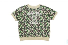 Baby Milo Store Milo Camo Vintage Wash Short Sleeve Crewneck Sweatshirt by A Bathing Ape