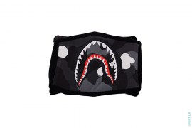 City Camo Shark Cotton Mouth Face Mask by A Bathing Ape